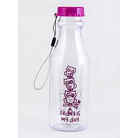 Бутылочка для воды YES 500ml Прозрачно-малиновый