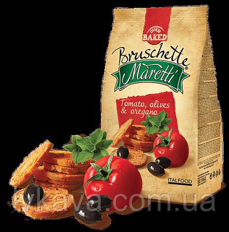 Гренки Bruschette Tomato,Olives&Oregano  Maretti, 70 гр, фото 2