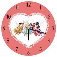 """Часы настенные """"Принцессы-феи"""" 36 см"""