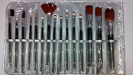 Набір пензлів для макіяжу (15 кистей)