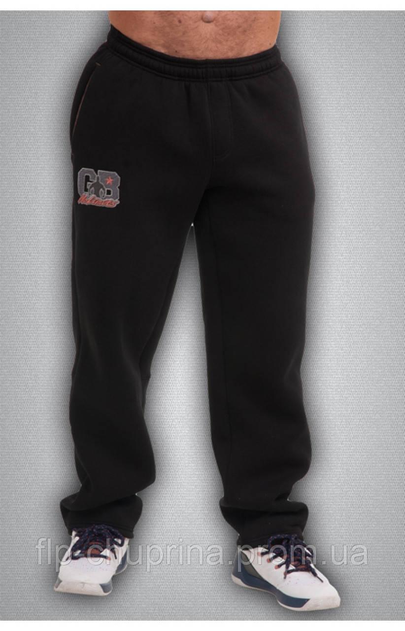 Мужские спортивные зимние штаны черные