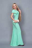 Нежное женское мятное платье
