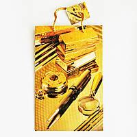 Подарочный пакет Средний узкий 16х25х7см Золотой набор