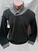 Мужской молодежный свитер с воротником 46-50 рр