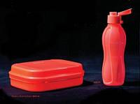 Бутылка Эко 500 мл с клапаном Tupperware ярко-коралловый цвет, фото 1