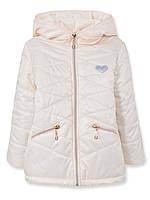 Детская демисезонная куртка на девочку Тифани, кремовая, р.92-116