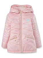Детская демисезонная куртка на девочку Тифани, персик, р.92-116