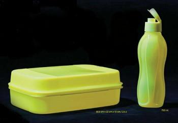 Бутылка 750 мл Tupperware неоновая желтая с клапаном