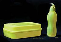 Бутылка 750 мл Tupperware неоновая желтая с клапаном, фото 1