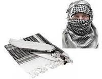 Шемаг (шарф арафатка), белый с черным