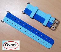 Ремешок силиконовый двухцветный (синий с голубым) Q60 Q70 Q80 Q90 Q100 Q100s Q101 Q750.