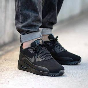 341bdf3be358 Мужские кроссовки Nike Air Max 90 Hyperfuse черные топ реплика, фото 2