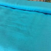 Лён бирюзовый, ширина 150 см, фото 1