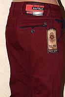 Бордовые мужские джинсы REDMAN