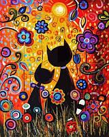 Раскраски для взрослых 40×50 см. Двое влюбленных, фото 1