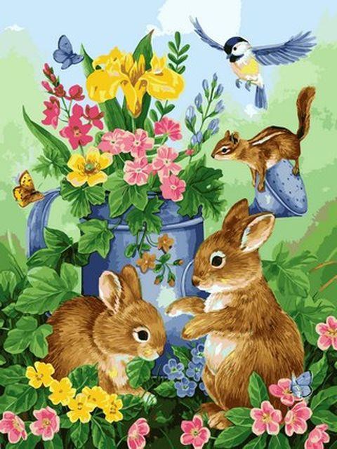 Картини по номерах 40×50 см. Прикосновение весны Художник Джейн Мадай