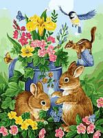 Раскраски для взрослых 40×50 см. Прикосновение весны Художник Джейн Мадай, фото 1