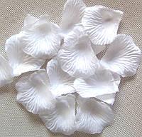 Лепестки розы, белые,  20шт
