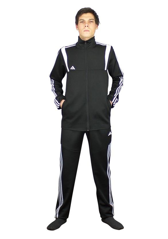 мужской спортивный костюм из черного эластика от украинского производителя - фото teens.ua