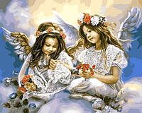 Раскраски по номерам 40×50 см. Подарок от Ангела, фото 1