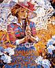 Раскраски по номерам 40×50 см. Девушка с ажурным зонтиком Художник Алексей Лашкевич