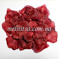 Лепестки розы, цвет бордовый,  20шт