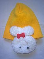 Детские супермодные весенние шапочки с зайками на ушках