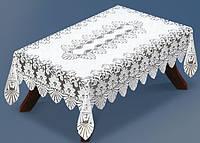 Ажурная скатерть 180*130 на прямоугольный стол