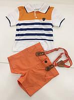 Детская футболка и шорты для мальчика на 6- 24 месяца,  на 1 - 2 года