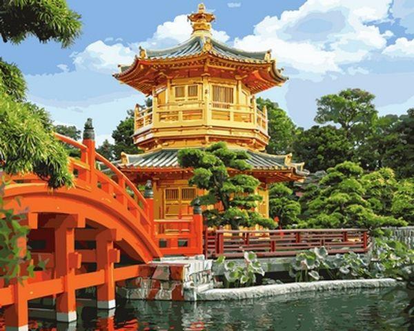 Картины раскраски по номерам 40×50 см. Красота Китая