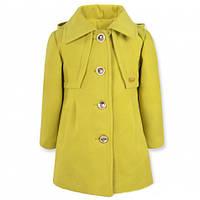 Пальто весеннее на девочку, лайм, р.98-116
