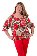 Блуза  шелковая крепдишин шелк натуральный женская Бл 016-002