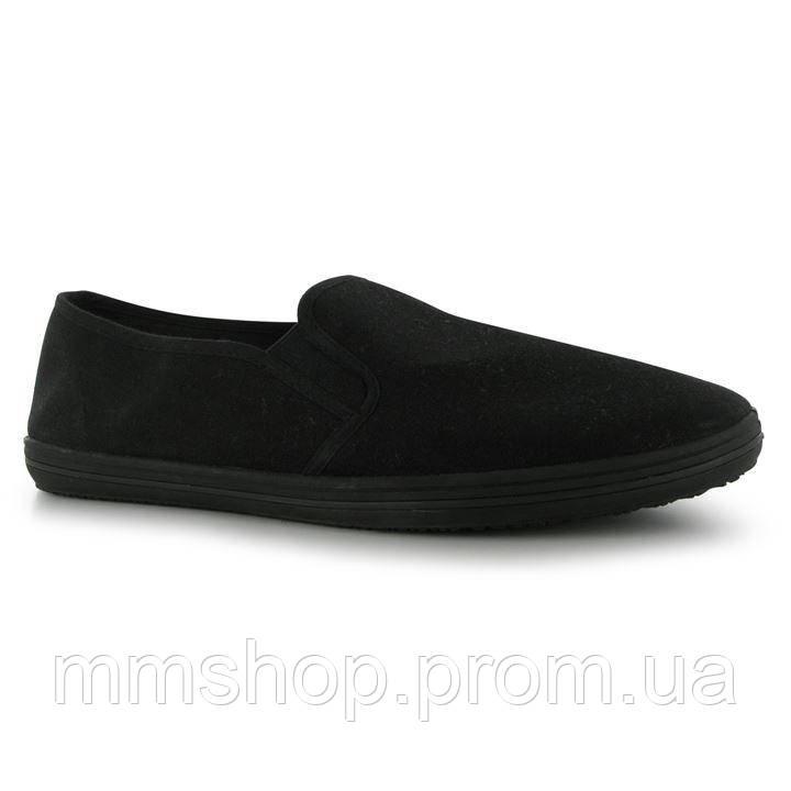 Мокасины  Slazenger Canvas Slip On Shoes Mens - Black, фото 1