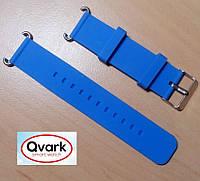 Ремешок силиконовый синий Q60 Q70 Q80 Q90 Q100 Q100s Q101 Q750.