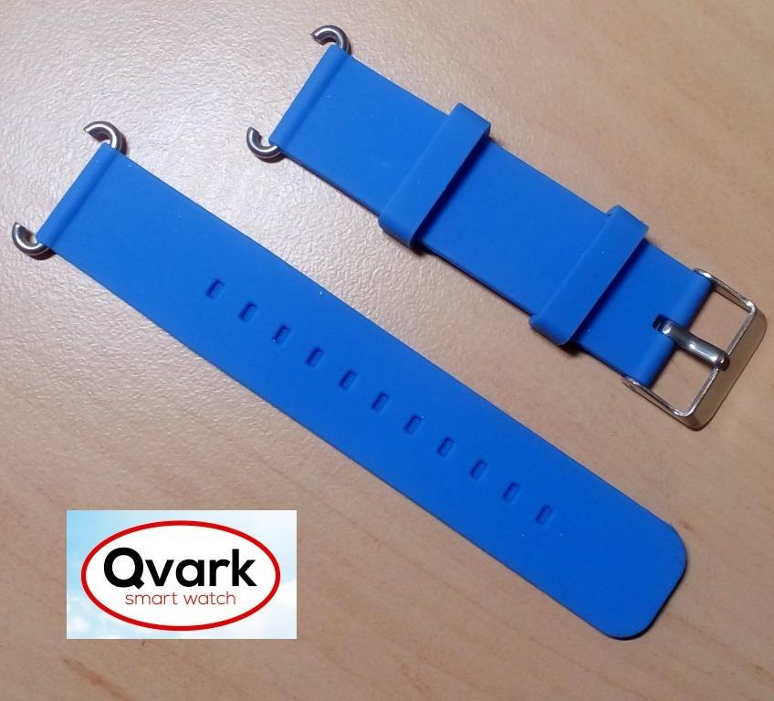 Ремешок силиконовый синий Q60 Q70 Q80 Q90 Q100 Q100s Q101 Q750., фото 1