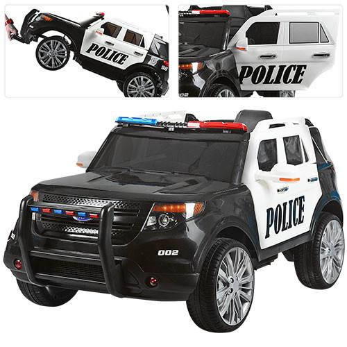 Детский электромобиль POLICE M 3259 EBLR-1-2: 2.4G, 90W, EVA, кожа -Черно-Белый-купить оптом