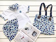 Детская футболка , шорты и панамка  для мальчика на 18- 24 месяца,  на 1 - 2 года