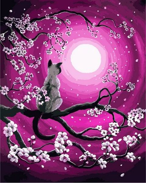 Набор для рисования 40×50 см. Луна и Кот Художник Лаура Айверсон , фото 1