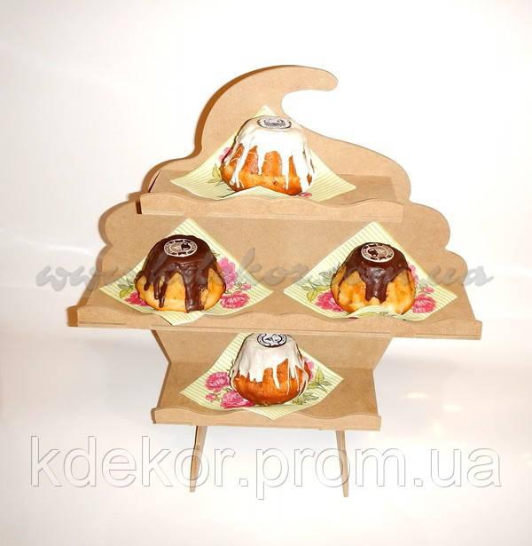 КАПКЕЙК КЕКС подставка для кексов,капкейков, конфет заготовка для декора