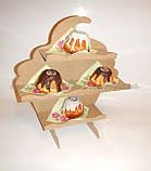 КАПКЕЙК КЕКС подставка для кексов,капкейков, конфет заготовка для декора, фото 2