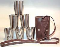 Набор металлических стопок 200 мл рюмка из нержавеющей стали в чехле