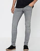 Зауженные мужские джинсы PULL&BEAR | Испания 46, Серый