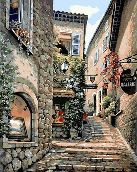Рисование по номерам 40×50 см. Итальянская улочка Художник Сунг Ким