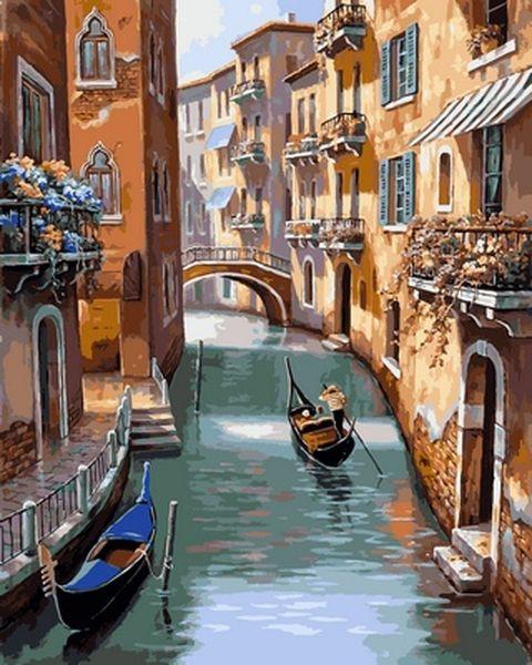 Раскраска по цифрам 40×50 см. Прекрасная Венеция Художник Сунг Ким