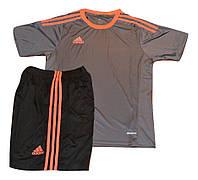 Футбольная форма игровая Adidas ( цвет - серый+оранж)