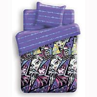 Комплект постельного белья  Monster High  Молнии  подростковый