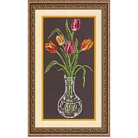 Тюльпаны. Набор для вышивания нитками