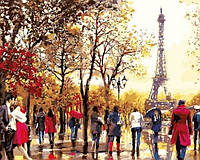 Рисование по номерам 40×50 см. Мой любимый Париж Художник Ричард Макнейл