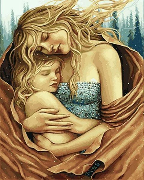 Раскраски по номерам 40×50 см. Мать и дитя Художник Лаура Бланк