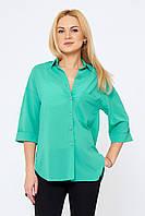 Женская рубашка Джасинта бирюзовая